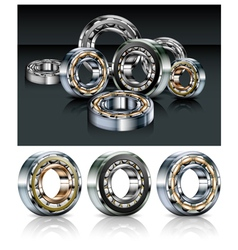 metal roller bearings vector image