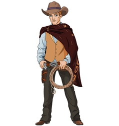 Young cowboy vector image