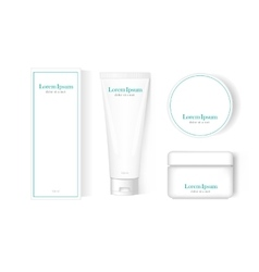 Packaging template mock-up vector