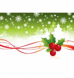 Christmas background with berry vector