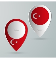 Paper of map marker for maps turkey vector