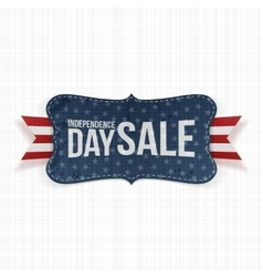 Independence day sale patriotic label vector