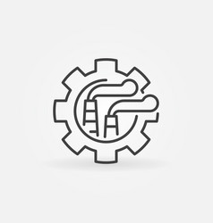 abstract factory with gear icon vector image