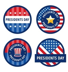 Badge greetings for Presidents day vector image vector image