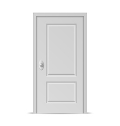 Closed Door vector image vector image