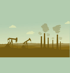 construction industry silhouette landscape vector image