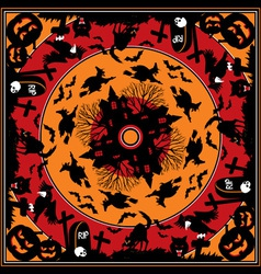 halloween square vs vector image