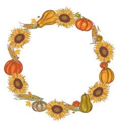 Harvest wreath vector