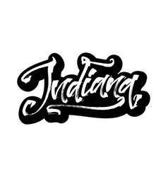 Indiana sticker modern calligraphy hand vector
