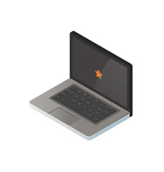 isometric of a laptop 3d realistic vector image