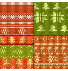 Knitting Pattern set vector image