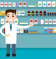 Male pharmacist vector