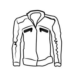 Men leather jacket vector