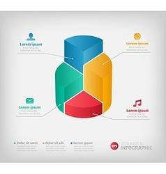 Modern 3d graph for web presentation or brochures vector image vector image