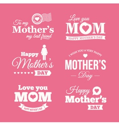 mothers day logo vector image