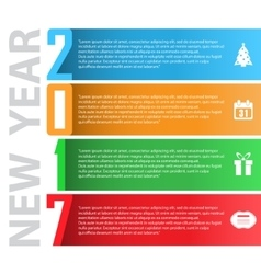 New year lines background vector image