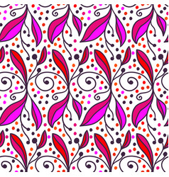 ornamental doodle floral background seamless vector image
