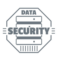 personal data security logo simple style vector image