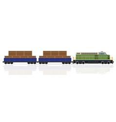 Railway train 23 vector