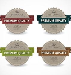 Set of sale badges vector
