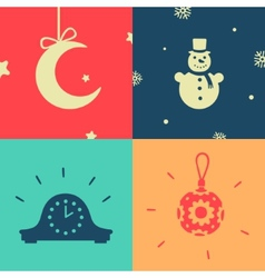 Set of symbols the new year vector image