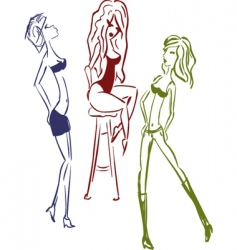 sexy girls vector image vector image