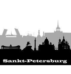 Silhouette of sankt petersburg vector