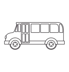 Silhouette school bus with wheels vector