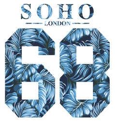 Soho london vector