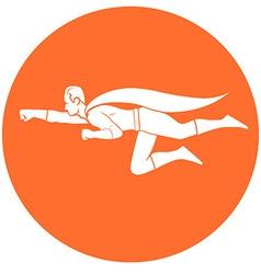 superhero flight vector image vector image