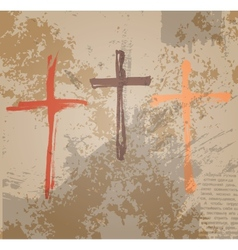 Three Crosses vector image