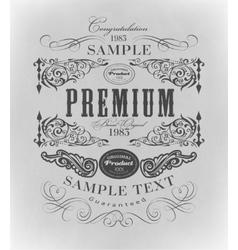 Typography calligraphic design elements page vector