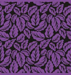 Violet leaves seamless pattern vector