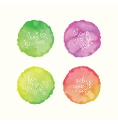 watercolor stains hand drawn doodle elements Hand vector image