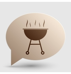 Barbecue simple sign brown gradient icon on vector