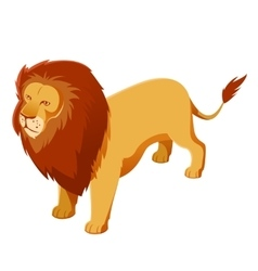 Lion isometric icon vector image