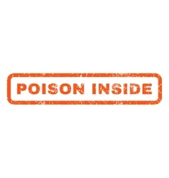 Poison inside rubber stamp vector