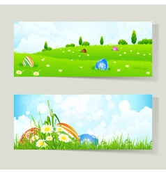 Easter cards with eggs vector