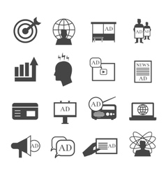 Marketing icons market sales and representative vector