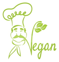 Vegan chef vector