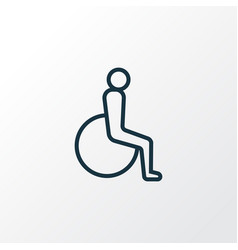Disabled outline symbol premium quality isolated vector