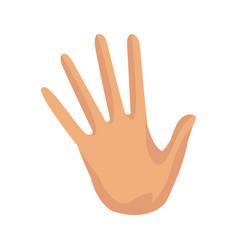 Hand palm stop finger five symbol vector