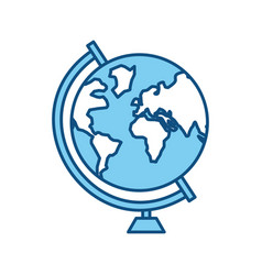 school world globe vector image