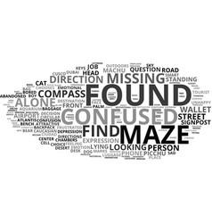Lost word cloud concept vector