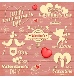 Love label for valentines day decoration vector