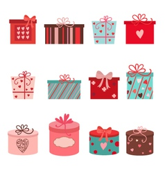 Set of gift box vector