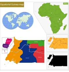 Equatorial guinea map vector