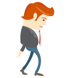 Sad Office man vector image