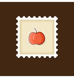 Apple stamp harvest thanksgiving vector