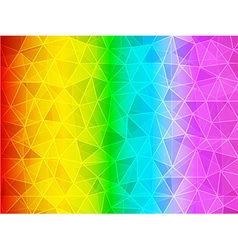 Polygon gradient rainbow background vector